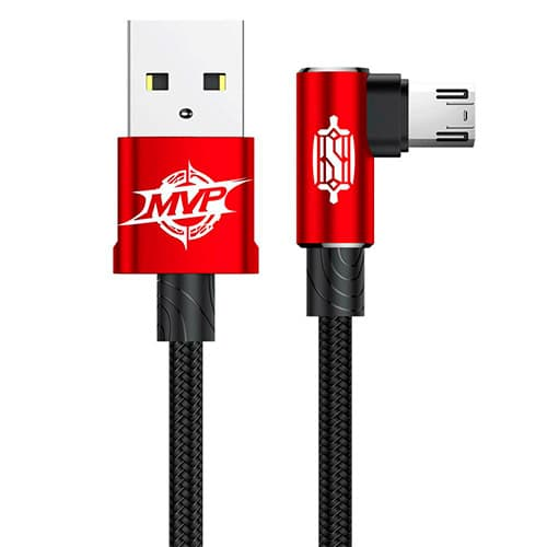 Baseus MVP Elbow Type Cable USB For Micro 1.5A 2M Red