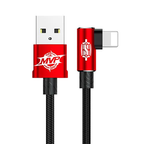 Baseus MVP Elbow Type Cable USB For IP 2A 1M Red