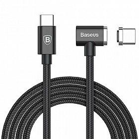 Baseus Magnet Type-C cable (Side insert For Type-C) 1.5M Black