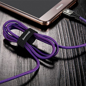 Baseus X-type Light Cable For Type-C 3A 1M Purple